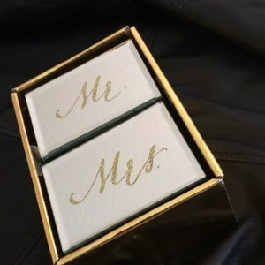 Mr. & Mrs. Mirrored Jewelry Boxes